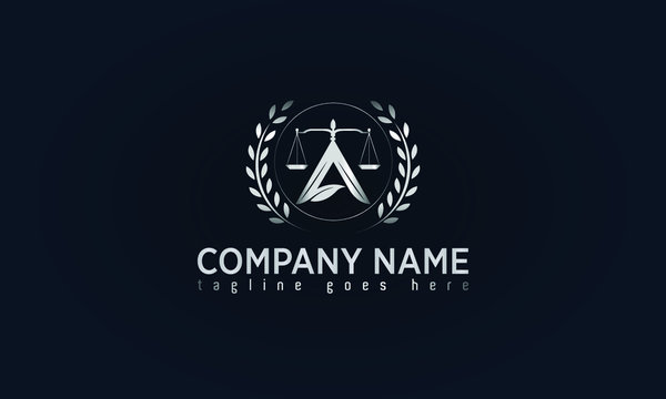 Lawyer and Attorney Office Concept Logo Design