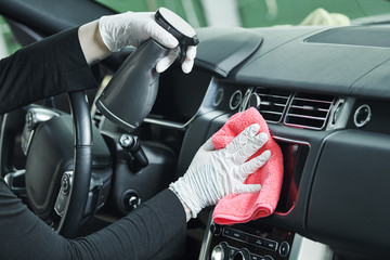 automobile detailing service. Car interior cleaning Fototapete