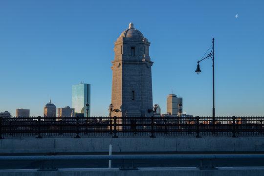 Longfellow Bridge Boston skyline