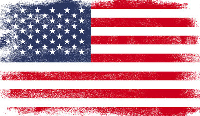 United States of America flag with grunge texture Wall mural