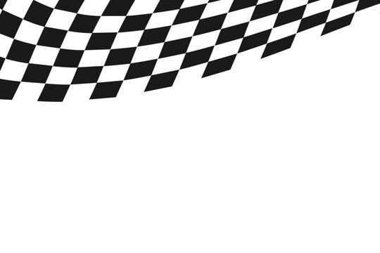 checkered flag, race flag background, vector Illustration