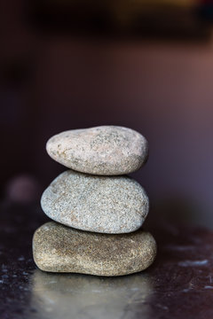 Three Pebble stacked