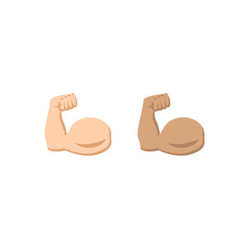 Biceps symbol icon in two colors. Vector EPS 10