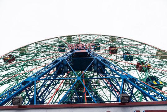 Luna Park amusement park in Coney Island Beach, New York City, USA