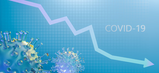 economic crisis due to the coronavirus pandemic, covid 19 - fototapety na wymiar