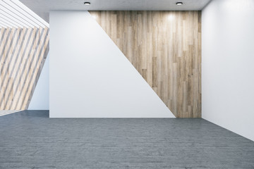 Contemporary gallery hall