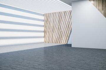 Minimalistic gallery room