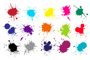 Grunge splatters Abstract ink splashe text banners