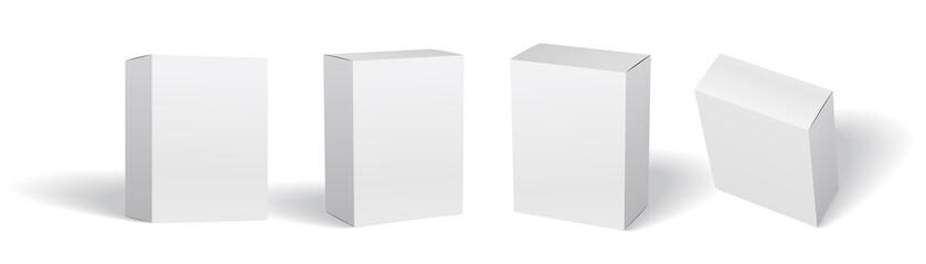 Packaging box mockup vector set