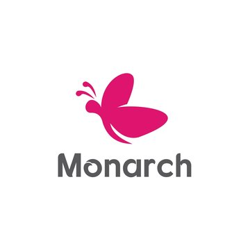 Monarch Logo Templates and Butterfly