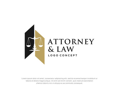 attorney and law logo.modern design.abstract style.vector illustration