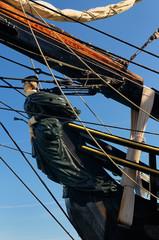 Figurehead of the lady Bethia on the tall ship HMS Bounty