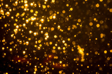 Golden blur glitter  lights abstract bokeh for Merry Christmas and New Year