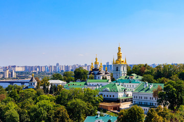 Printed roller blinds Kiev View of Kiev Pechersk Lavra (Kiev Monastery of the Caves) and the Dnieper river in Ukraine