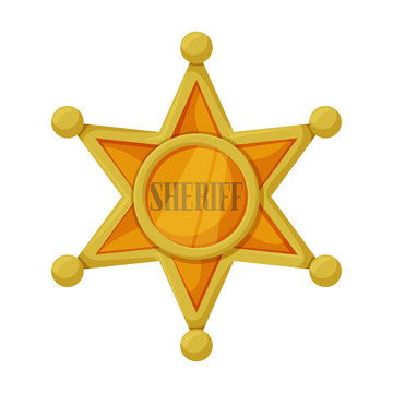 Star sheriff vector icon.Cartoon vector icon isolated on white background star sheriff.