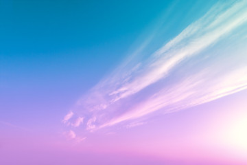 Printed kitchen splashbacks Purple Colorful cloudy sky at sunset. Gradient color. Sky texture. Abstract natural background