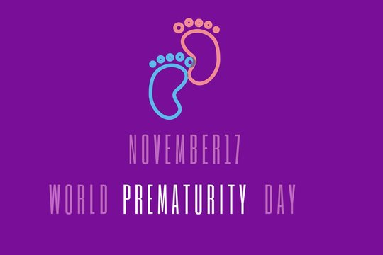 vector illustration on the theme of world prematurity day on november 17