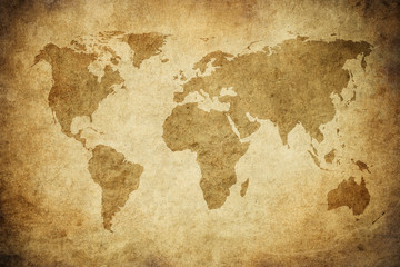 Papiers peints Europe du Nord grunge map of the world