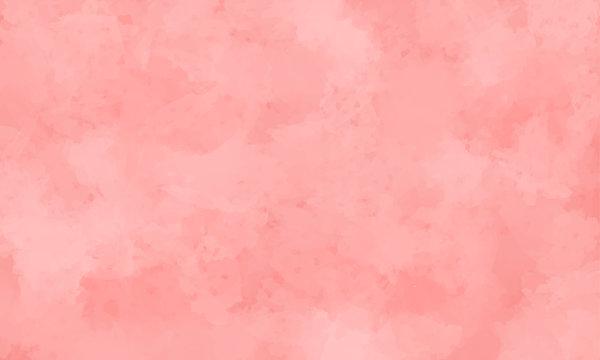 ピンク色の水彩風背景(ベクター)