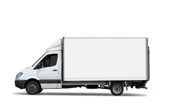 Italian delivery truck isolated on white