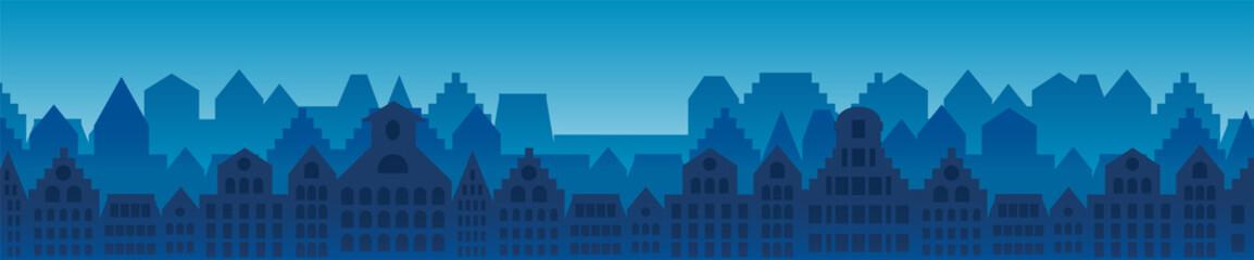 City buildings horizontal background Fototapete
