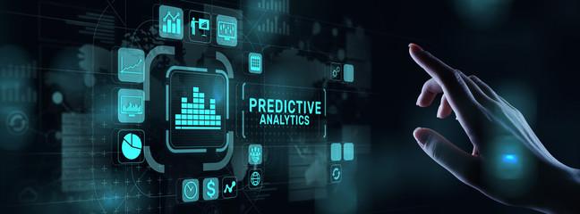 Predictive analytics Big Data analysis Business intelligence internet and modern technology concept...