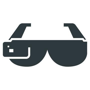 smart glasses black icon on white background