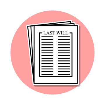 Last will sticker icon. Simple thin line, outline vector of Death icons for ui and ux, website or mobile application