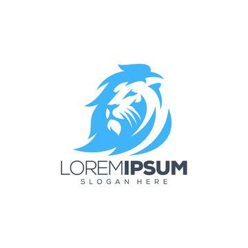 lion logo design vector illustration