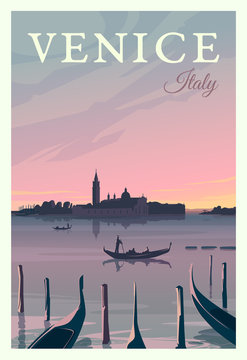 Time to travel. Around the world. Quality vector poster. Italy.
