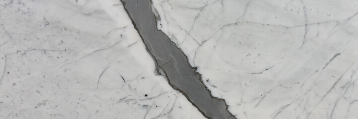 Photo sur Aluminium Marbre Unusual light marble texture with ideal surface. Long slab pattern for your interior design or web site.