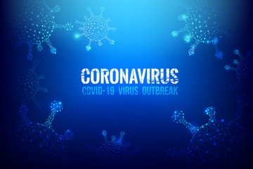 Coronavirus Covid-19 text outbreak with the world map and HUD 002