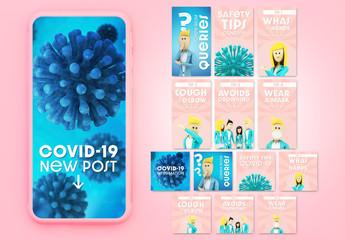 Coronavirus Social Media Story Layouts