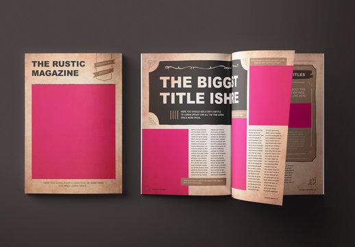 Rustic Magazine Layout