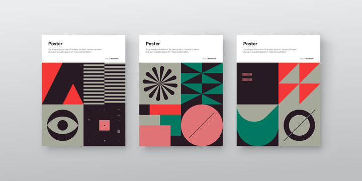 Bauhaus Design Poster Mockup Collection
