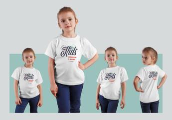 4 Kids T-Shirt Mockups