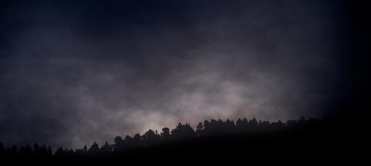 Autocollant pour porte Noir Brouillard