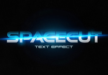Blue 3D Text Effect Mockup