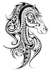 Horse shape tattoo