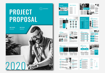 Project Proposal Layout with Teal Accents