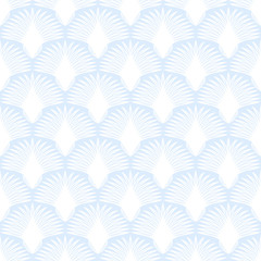 Art Deco. Seamless pattern, exotic white ornament in vector