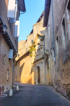 City landscape - view of a medieval street in the town of Auch, in the historical province Gascony, the region of Occitanie of southwestern France