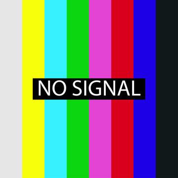 Tv screen no signal.Isolated vector. Error video.
