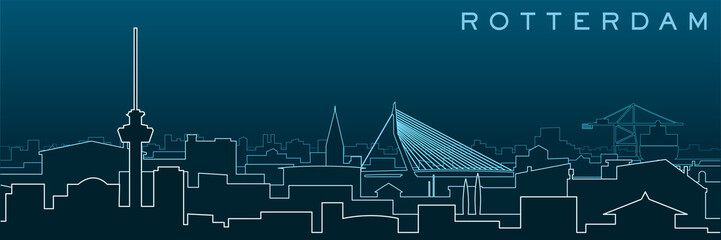 Fotorollo Rotterdam Rotterdam Multiple Lines Skyline and Landmarks