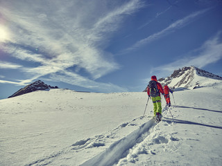skitour Alpen Wall mural