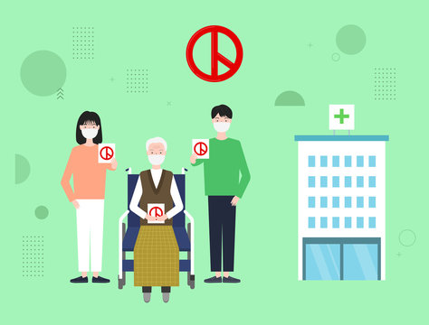 People voting in hospitals or nursing home.