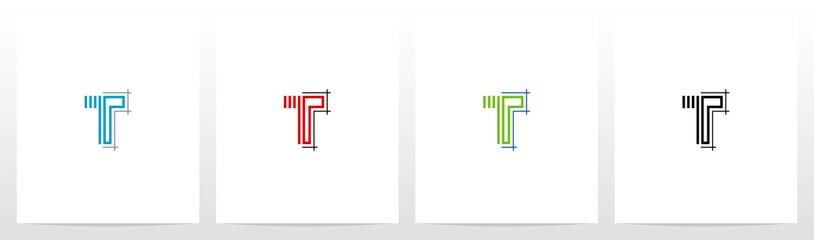 Blueprint Architecture Style Letter Logo Design T