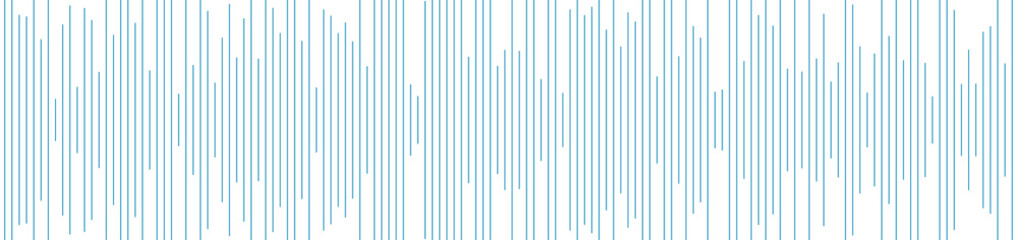 Blue equalizer lines abstract futuristic tech banner design. Vector background
