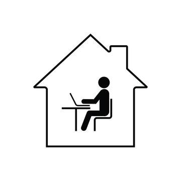 Remote work online icon
