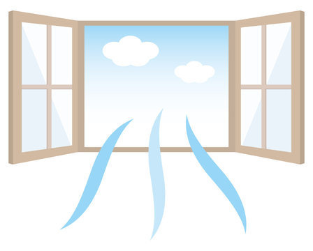 換気 窓 両扉 Window ventilation